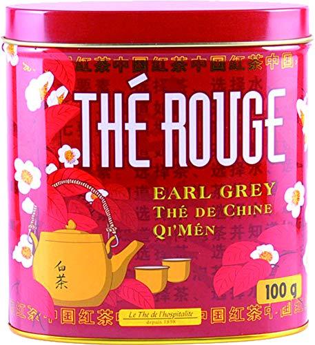 Terre d'Oc - Schwarzer Bio Tee mit Bergamotte-Aromen und Orangenblütenextrakt (Thé rouge Earl Grey) in dekorativer Metalldose 100 g