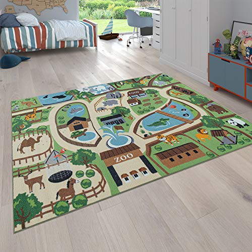 Paco Home Tapis pour Enfants, Tapis de Jeu pour Chambres d
