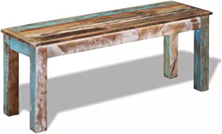 vidaXL Bench Solid Reclaimed Wood Dining Seats Outdoor Home Hall Chair Lounge