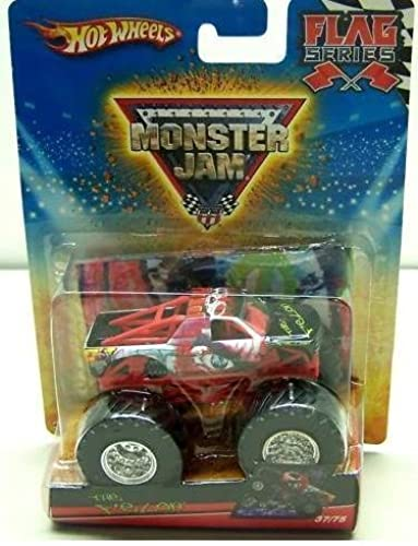 Hot Wtalons Monster Jam 2010, The Felon   37 75, Flag Series. 1 64 Scale (petit Truck). by Mattel