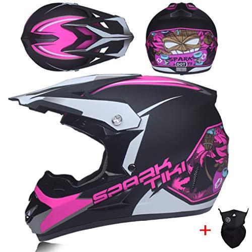 OLEEKA Casco de Moto Casco de Motocross Equipo de protección para Descenso Tipo de Campo a través Casco de Bicicleta ABS Bicicletas de Montar en monopatín