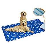 Yangbaga Washable Pee Pad for Dogs, 36x64in Extra Large Non Slip Puppy Pad, Extra Thick Whelping Pad with Great Urine Absorption, Odor Control Training Pad