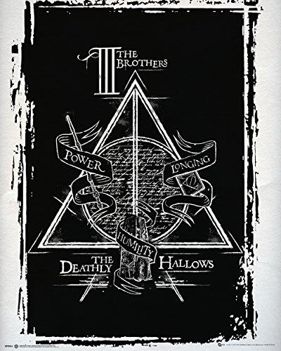 GB Eye Ltd Mini Affiche Bois Harry Potter Reliques de la Mort 40 x 40 cm 65 x 3,5 x 3,5 cm