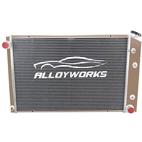 ALLOYWORKS 3 Row Full Aluminum Radiator For 1973-1991 Chevy GMC C/K Series Pickup Trucks Blazer Jimmy Engine Cooling Parts (A)