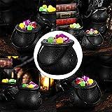 STOBOK 12 Stück Hexenkessel Schwarz,kleine Hexe Süßes oder Saures Süßigkeiten Halter Halloween Candy Bucket - 8
