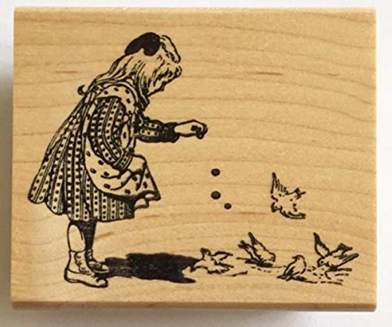 Nature's Blessings Fine Art Stamps, Girl Feeding Birds