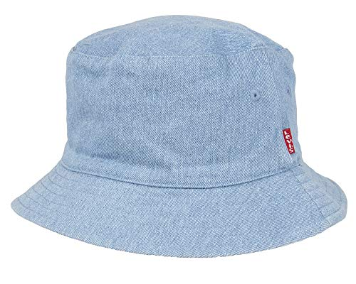 Levi's Men's Reversible Bucket Hat, Light Blue, L/XL