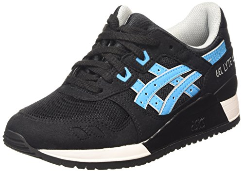 ASICS Herren Gel-Lyte III Low-top, Schwarz (Black/Atomic Blue 9039), 43.5 EU