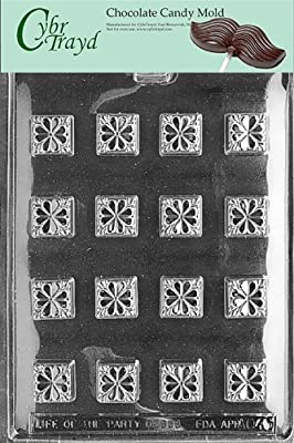 Cybrtrayd Life of the Party AO045 Traditional All Occasions Chocolate Candy Mold in Sealed Protective Poly Bag Imprinted with Copyrighted Cybrtrayd Molding Instructions , Bite Size