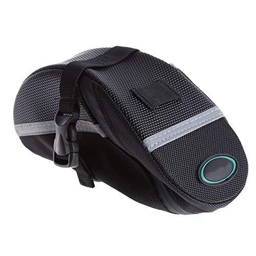 Fahrradsatteltasche Beutel for Fahrrad-Fahrrad zurück Sattelstütze Satteltaschen-Beutel-Rückpaket MTB Fahrrad-Zubehör Professionelle Rennradtasche (Color : Black, Size : S)