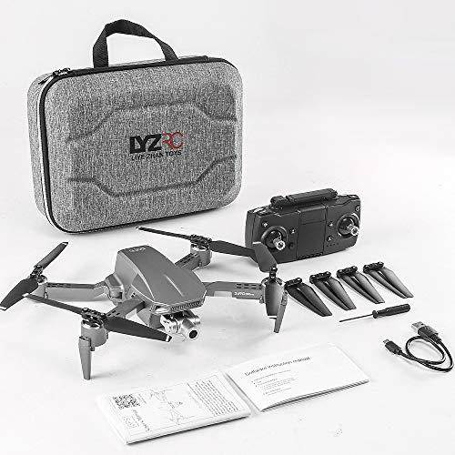 L106 Pro GPS 5G Wifi Drone con Cámara HD 4K Dron Plegable con Flujo Óptico, Follow Me Control por gestos, Retorno con One Key Return, Vía para principiantes y Adultos 3 Baterías