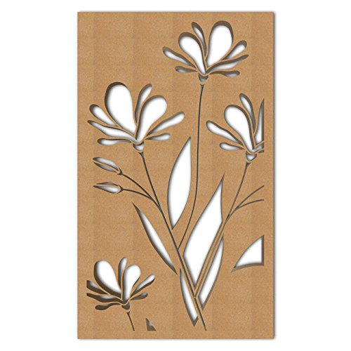 Read About NISH! 'Deco Panel' | Use asRoom Partition, Screen, Divider, Wall Art, Hanging, Door (MDF Wood – 12mm Thick, 4.2ft x 7ft, Natural Color) for Living Room, Kitchen Cabinet, Cupboards, Furniture