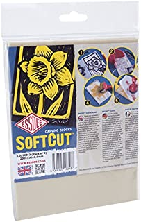 ESSDEE SoftCut Printmaking and Carving Blocks (200 x 150 x 3.0 mm Pack of 2)