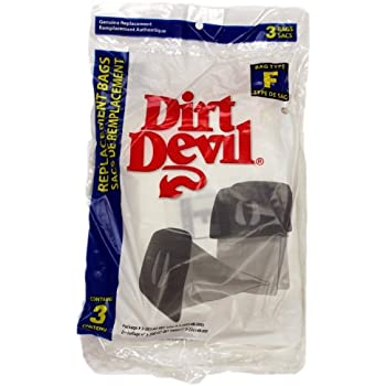 Dirt Devil Paper Bag, Royal Can Vac Type F 3pk