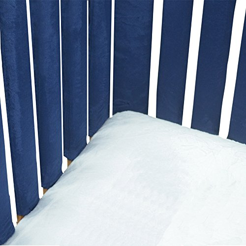 Pure Safety Vertical Crib Liners in Luxurious Chocolate Minky 24 Pack