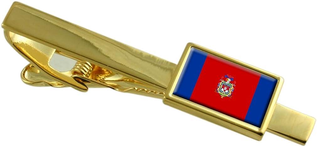 Quito City Ecuador Flag Gold-tone Tie Clip