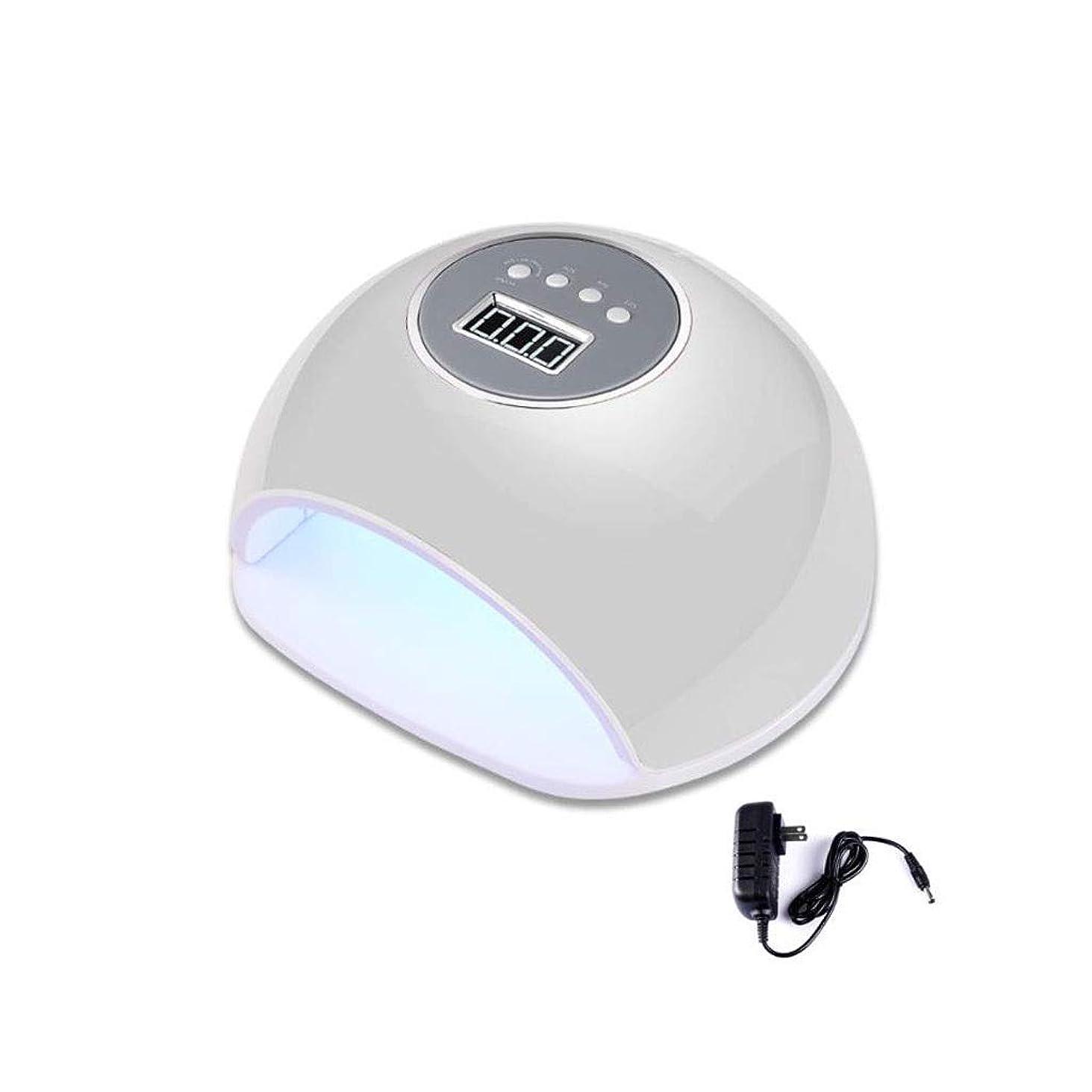 リスナー損失裏切りネイルドライヤー, ネイルドライヤー72W LED UVネイルランプ、ジェルネイルポリッシュ乾燥機硬化ランプ、プロ機マニキュア/ペディキュア (Color : A, Design : US standard flat plug)