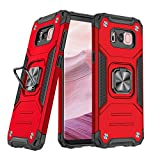 DASFOND Funda para Galaxy S8 Plus, Funda Protectora para teléfono de Grado Militar con Soporte de Anillo metálico Mejorado [Soporte magnético] Compatible con Samsung Galaxy S8 Plus, Rojo