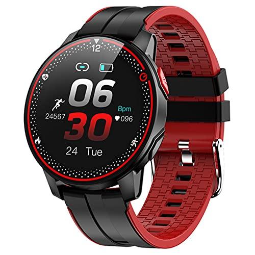 AKL SmartWatch Impermeable Reloj Inteligente Dama Linda Pulsera esfigmomanómetro señora Reloj de muñeca,F