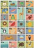 Großes ABC Poster 70 x 100 cm Wörter in Deutsch und