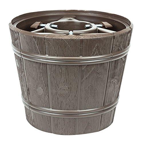Kit vaso supporto porta albero di natale Planet, diametro 34,5 cm, colore: marrone
