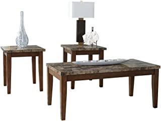 ashley marble coffee table set