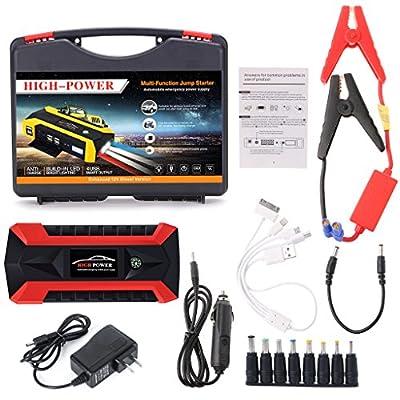 Xumeili 89800mAh 4 USB Portable Car Jump Starter Pack Booster Charger Battery Power Bank
