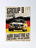 MCTEL Group B Legends - A-UDI Quattro A2 Poster 11.7x16.5