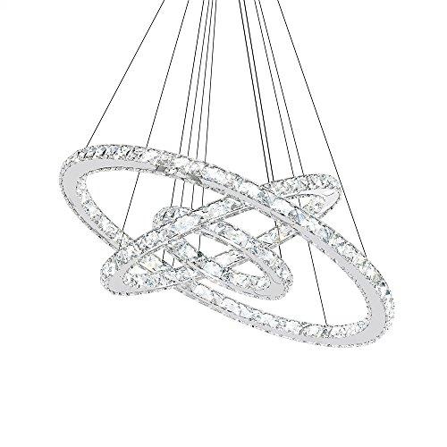 SAILUN® 72W LED Lampada a Sospensione Design di Cristallo a Tre...