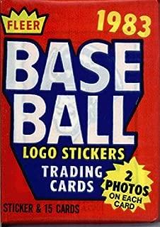 1983 fleer baseball cards