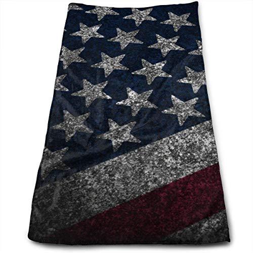 Bert-Collins Towel Toallas de Playa con Bandera Americana Vintage Toallas de Playa 80x130cm