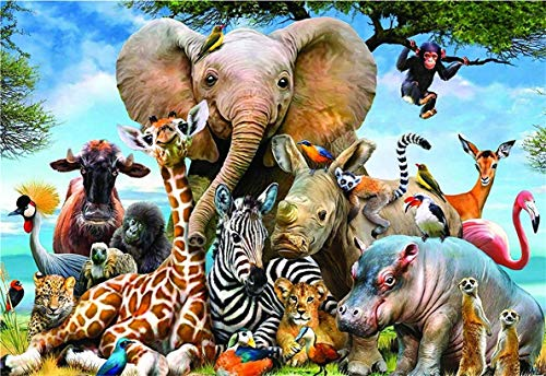 Jigsaw Puzzles 1000 Pieces for Adults,Animal World Educational Intellectual Decompressing Fun Game for Family Kids DIY Games