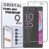 REY Protector de Pantalla Curvo para Sony Xperia XA Ultra, Transparente, Cristal Vidrio Templado Premium, 3D / 4D / 5D