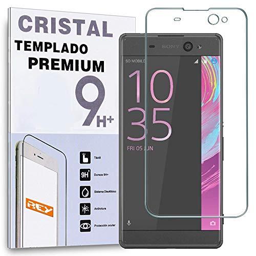 REY Protector de Pantalla Curvo para Sony Xperia XA Ultra, Transparente, Cristal...