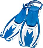 Cressi Kids' Rocks Adjustable Premium Children Fins, Blue/White, S/M