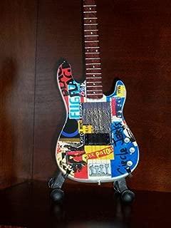 RED HOT CHILI PEPPERS FLEA Mini PUNK Bass Guitar Display GIFT
