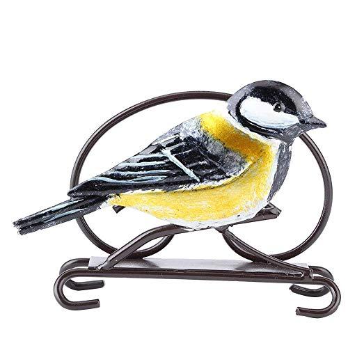 JYKFJ Soporte de Toalla de Papel de Hierro en Forma de pájaro, Estante de Almacenamiento de Papel de Seda, Soporte de servilleta, Estatua Decorativa Artesanal para baño, Sala de Estar