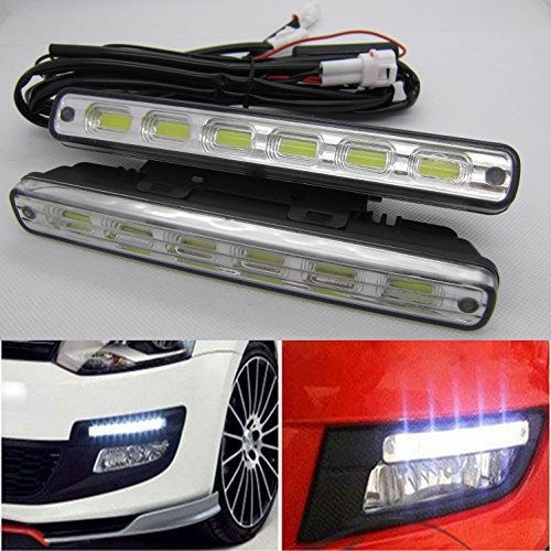 KIT 6COB LED Tagfahrlicht Auto Lampe DRL TFL Weiß 6000K E-Prüfzeichen E4 RL 0087