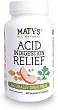 Matys All Natural Acid Indigestion Relief 60 Capsules Eases Heartburn & Reflux