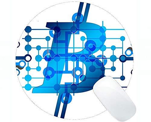 Einzigartige kundenspezifische runde Mausunterlage Mousepad, rutschfeste Gummibasis Mousepad des Dollarbitcoin-Kapitals