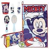 Cerdá, Neceser Set Aseo/Viaje Mickey Unisex niños, Multicolor, 7.0 X 16.0 X 23.0 CM