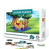 Póster animado de Winnie the Pooh Puzzle de 500 piezas para adultos Juego familiar de madera para aliviar el estrés Rompecabezas de desafío difícil para niños adultos 52x38cm