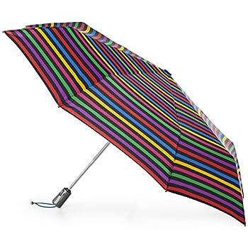 totes Titan Automatic Open Close Windproof & Water-Resistant Foldable Umbrella Hue Stripe