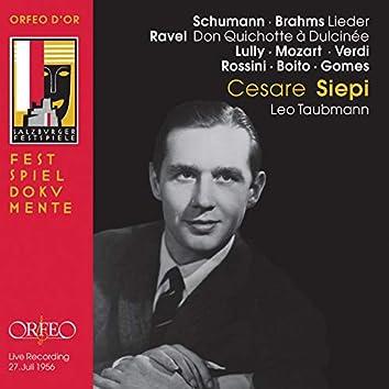 Schumann & Brahms: Lieder - Ravel: Don Quichotte à Dulcinée, M. 84 (Live)