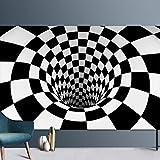 Tapis De Style Géométrique Abstrait Moderne Salon Chambre Table Basse Tapis D'Entrée Antidérapant Illusion Visuelle Tapis De Sol Rectangulaire