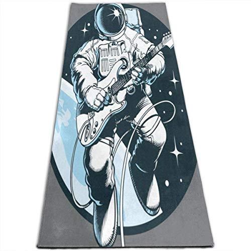 NA Astronaut Spelen Gitaar Yoga Mat-All-Purpose Hoge Dichtheid Antislip Oefening Aangepaste Gepersonaliseerde Yoga Matten voor Alle soorten Yoga, Pilates & Vloer Oefeningen (70