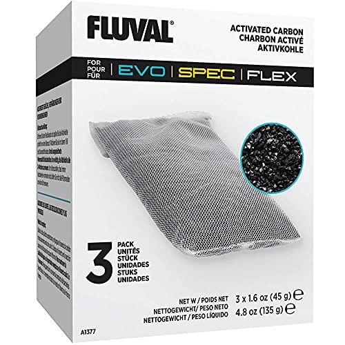 Fluval Carbón para Acuarios Flex y Spec, 3 Unidades