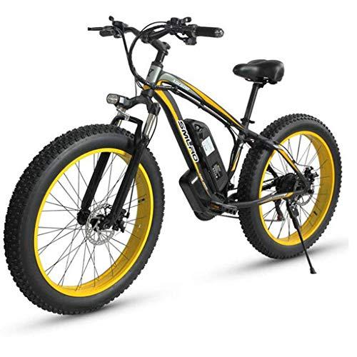 JXXU 26-Zoll-Elektro-Fahrräder for Erwachsene, 500W Aluminiumlegierung All Terrain E-Bike IP54 Wasserdicht Abnehmbare 48V / 15Ah Lithium-Ionen-Akku Mountainbike for Outdoor-Reisen Pendeln