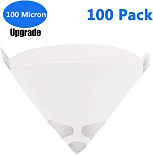 100 Pack 100 Micron Paint Cone Paint Strainers, Terberl 100 Micron Paint Filter with Fine Nylon Mesh - Automotive, Spray Guns, Arts & Crafts, Hobby & Painting Projects