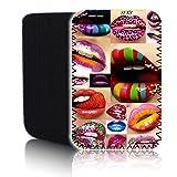 BIZEBEE 'Biz-E-Bee Sexy Lippen' (7HD) Schutz Neopren Tasche für Xiaomi Mi Pad 2–Stoßfest und wasserabweisend Abdeckung, Hülle, Tasche,–Schnell Schiff UK